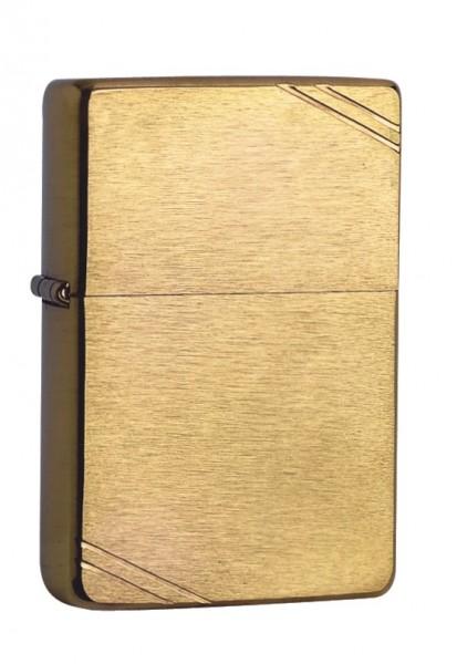 Zippo Messing gebürstet Vintage Streifen