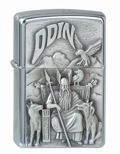 Zippo chrom gebürstet Viking Embl. Odin