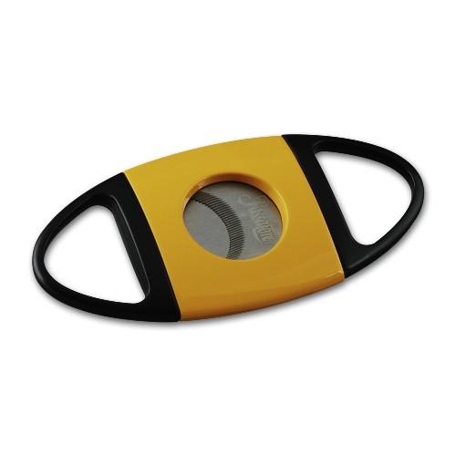 Cigarrenabschneider Passatore schwarz/gelb 23mm Durchmesser