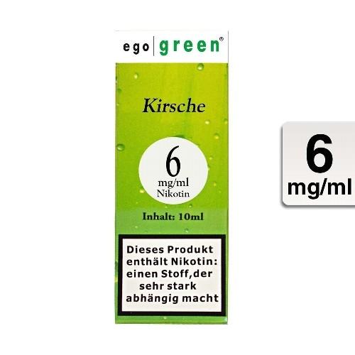 E-Liquid EGO GREEN Kirsche 6 mg