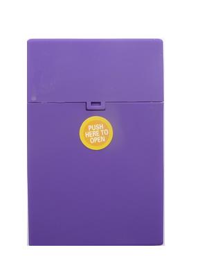 Zigarettenbox Kunststoff violett