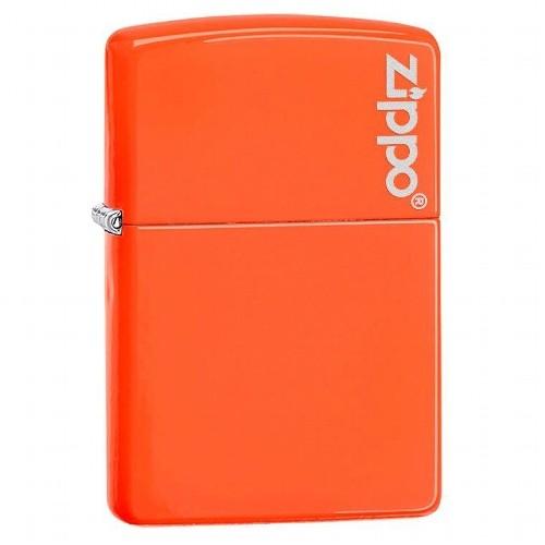 Zippo Neon Orange Logo Zippo
