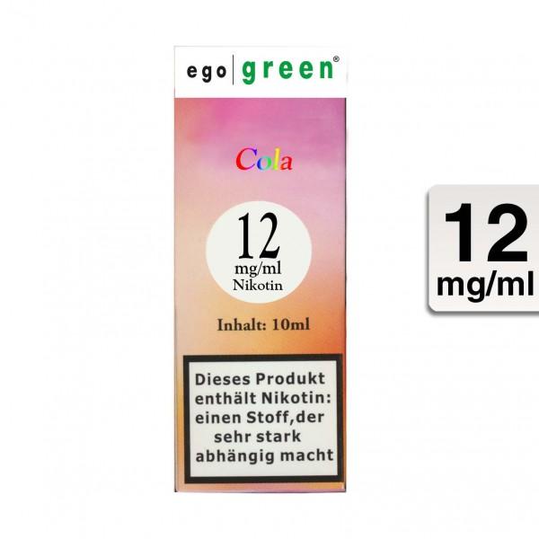 E-Liquid EGO GREEN Cola 12 mg