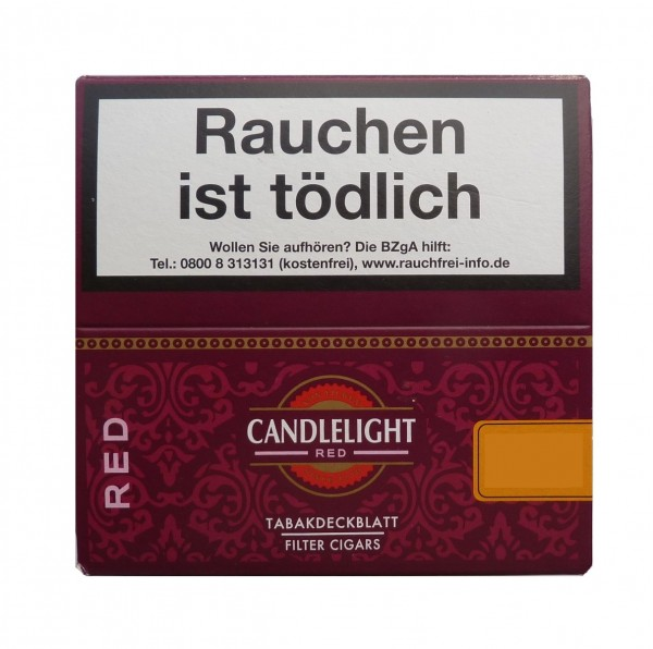 Candlelight Red Filter Cigarillos Display 50er