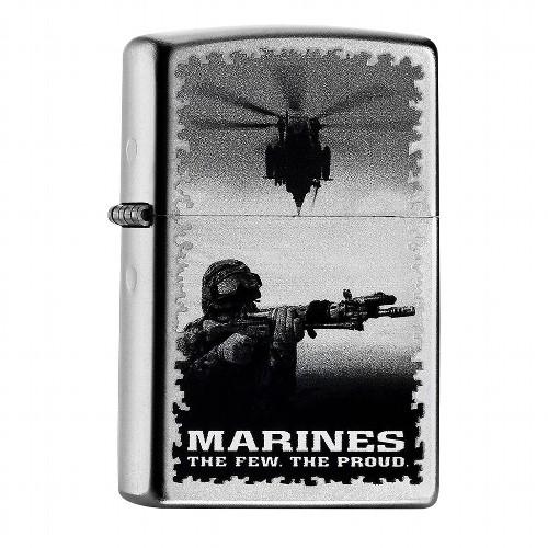 Zippo satiniert Marines