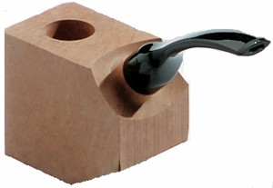 Bruyereholzkantel gebogenes Mundstück