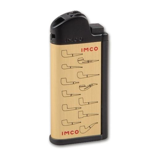 Feuerzeug Stein IMCO Chic Pfeifenmotive gold mit Pfeifenstopfer