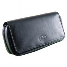 Ambiente 2er Pfeifentasche Leder schwarz