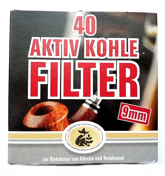 Ermuri Aktiv-Kohle Filter 9mm 40er Packung