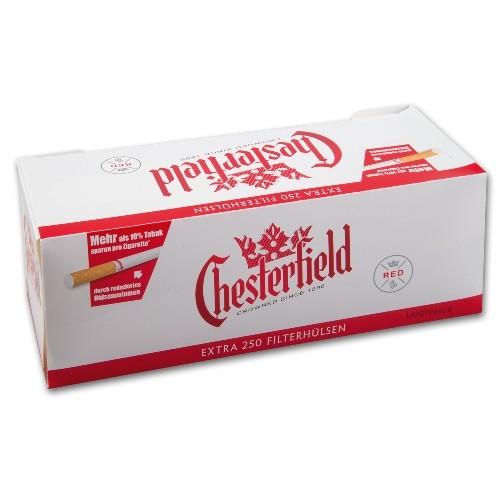 Chesterfield Red Extra Hülsen Extra Filterhülsen Zubehör Zum
