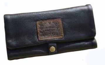 Feinschnitt Tasche Leder Classic mit langem Rollbrett 16x8cm