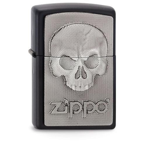 Zippo schwarz matt Phantom Zippo Skull Emblem