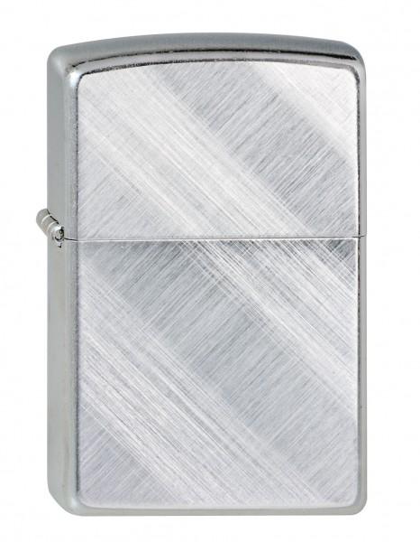 Zippo chrom poliert Diagonal Linen Weave