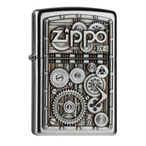 Zippo satiniert Gear Wheels