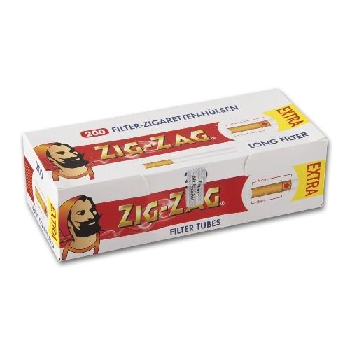 Zig Zag Extra Hülsen 200 Stück Packung