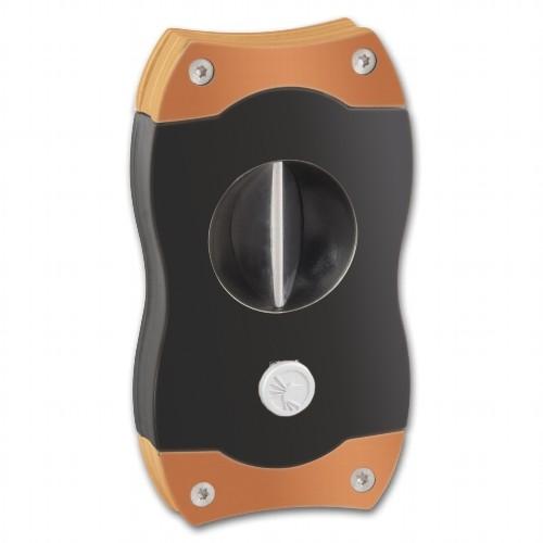 Cigarrenabschneider COLIBRI V-Cut schwarz/rosegold 23mm Durchmesser