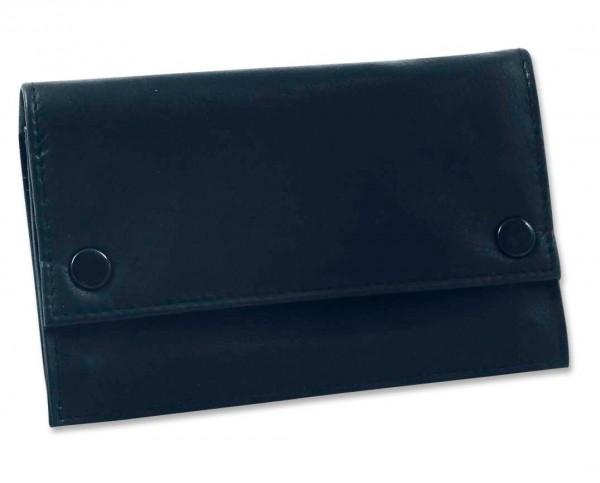 Feinschnitttasche Leder schwarz