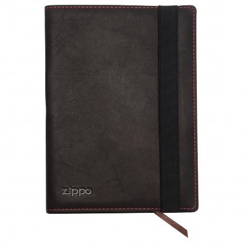 Zippo Notizbuch Leder Mocha A5