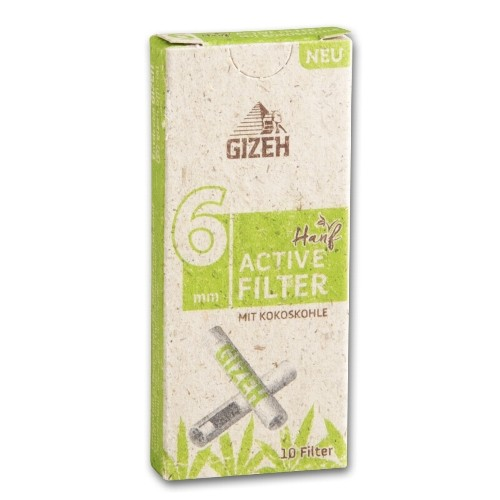 Gizeh Hanf Active Filter 6mm Packung