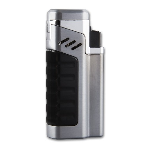 Cigarrenfeuerzeug Jet 4-fach Sky X4 Jet chrom satiniert Rundcutter 6mm