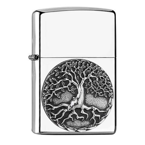 ZIPPO chrom poliert Tree of Life