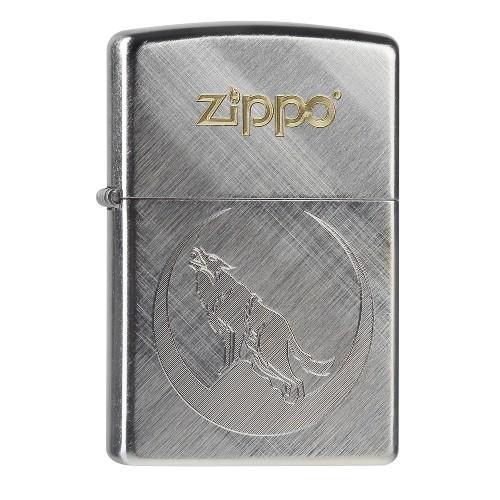 Zippo chrom Diagonal Weave Wolf