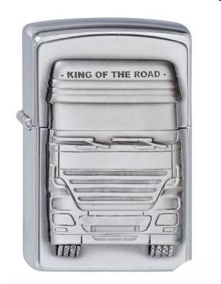 Zippo Chrom gebürstet King of the Road