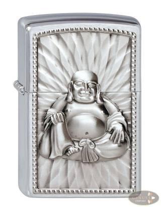 Zippo chrom gebürstet Buddha with 108 Pearls