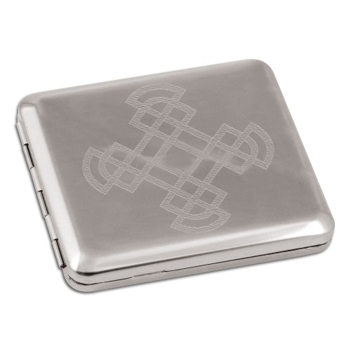 Zigaretten-Etui poliert Celtic Nickel