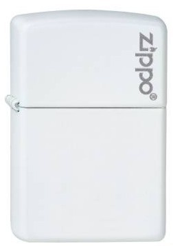 Zippo weiß matt with Zippo Logo