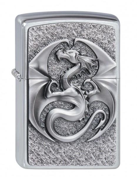 Zippo Chrom gebürstet Dragon 3D Emblem
