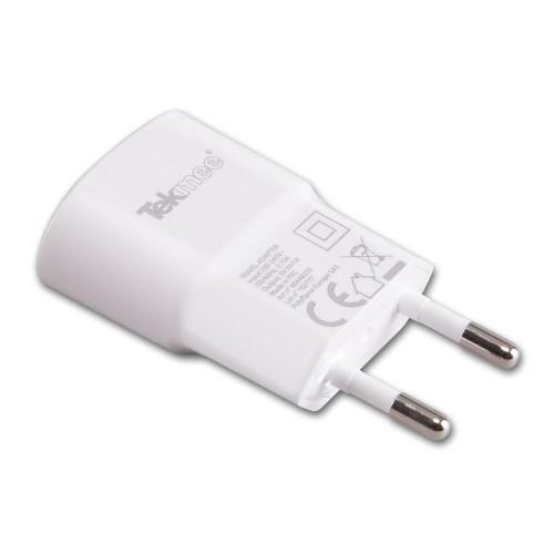 E-Ladezubehör USB Netzstecker TEKMEE weiß