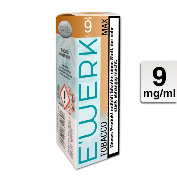 E-Liquid E-WERK Max 9mg Nikotin