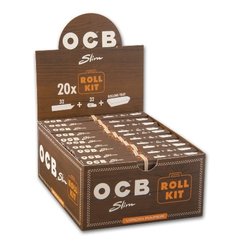 OCB UNBLEACHED Slim Virgin Paper Rolled Kit