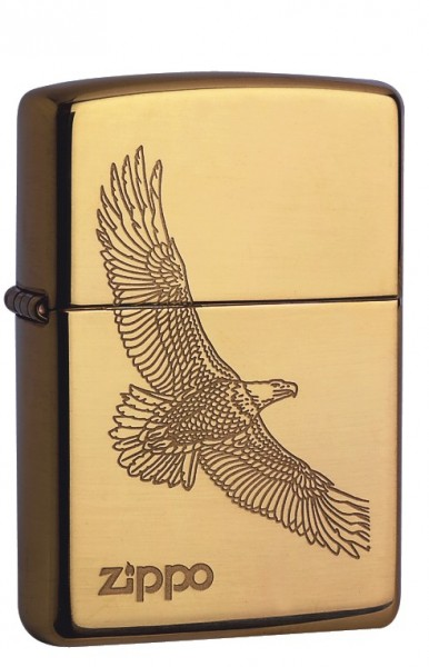 Zippo Messing Poliert large eagle
