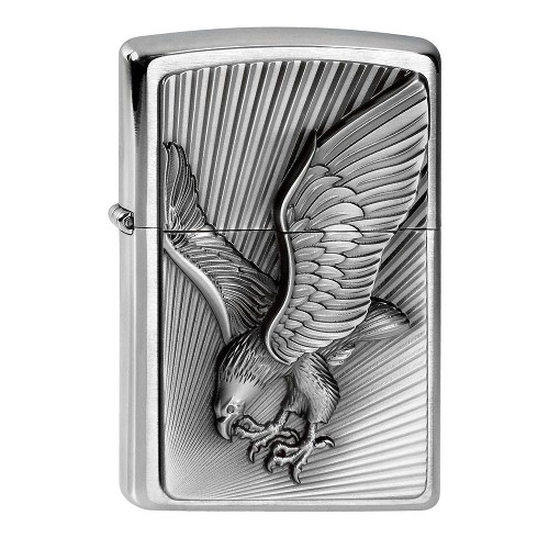 Zippo chrom gebürstet Eagle