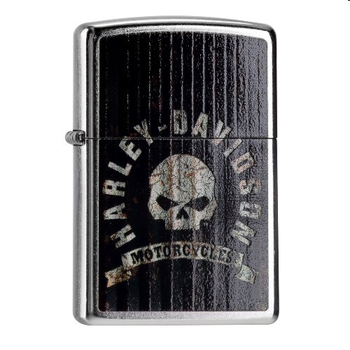 Zippo Street chrom Harley Davidson Metall